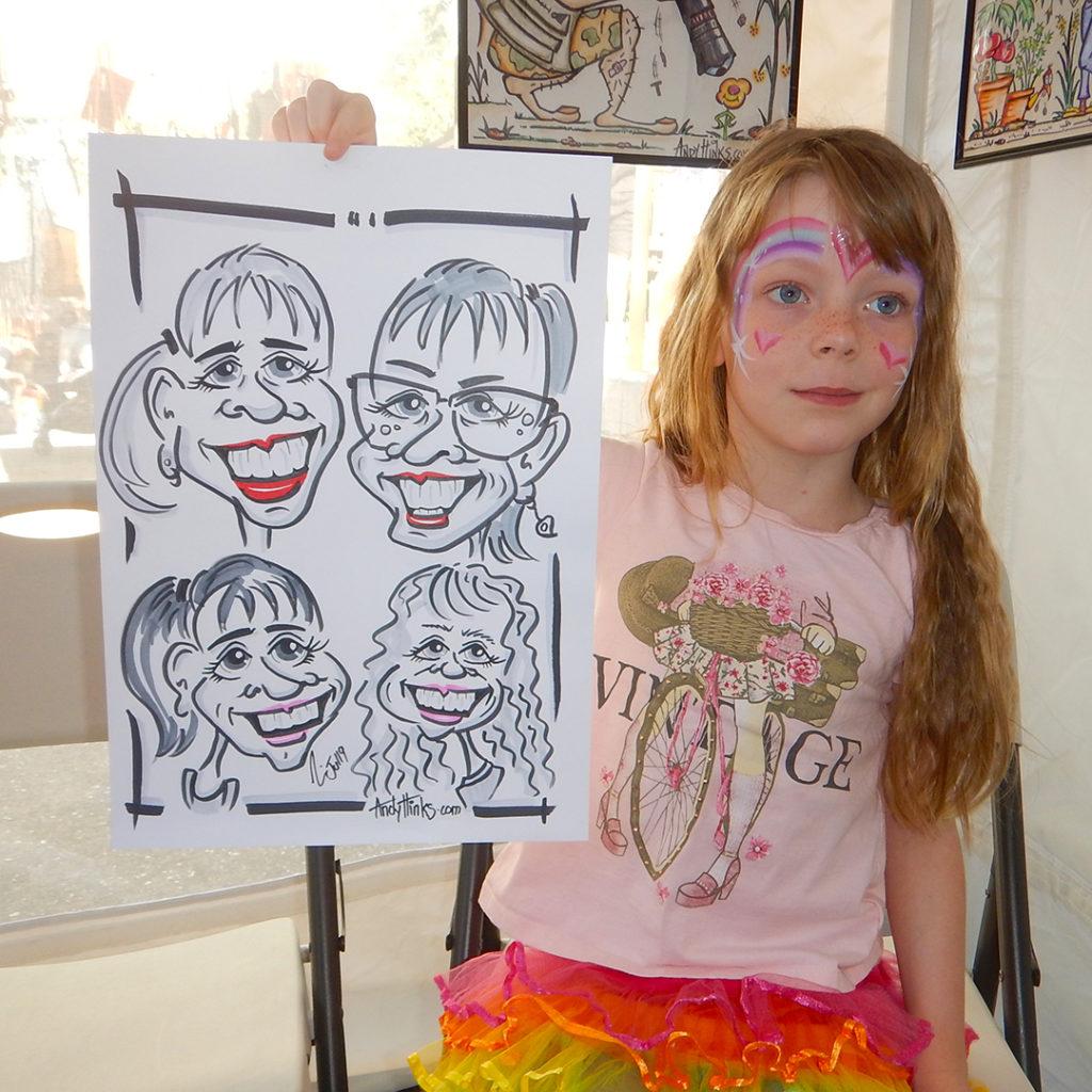 andyhinks.com andy hinks caricature illustration drawing andrew hinks Eumundi Markets