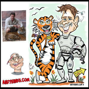 andyhinks.com andy hinks caricature illustration drawing andrew hinks tiger australia zoo geoff