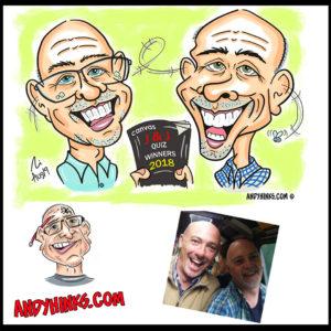 andyhinks.com andy hinks caricature illustration drawing andrew hinks Eumundi Markets canvas quiz masters 2018