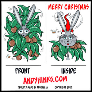 andyhinks.com andy hinks caricature illustration drawing andrew hinks Eumundi Markets Christmas Cards