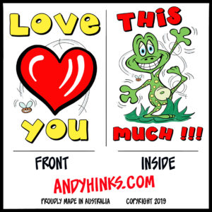 andyhinks.com andy hinks caricature illustration drawing andrew hinks Eumundi Markets Greeting Cards Love You Card