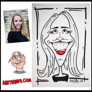 andyhinks.com andy hinks caricature illustration drawing andrew hinks Eumundi Markets Happy Birthday Quickdraw