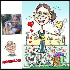 andyhinks.com andy hinks caricature illustration drawing andrew hinks Eumundi Markets Flinders Netball Club