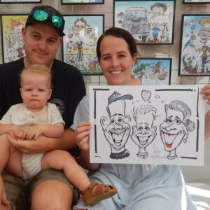 andyhinks.com andy hinks caricature illustration drawing andrew hinks Eumundi Markets Pure Underwater Justin Bruhn